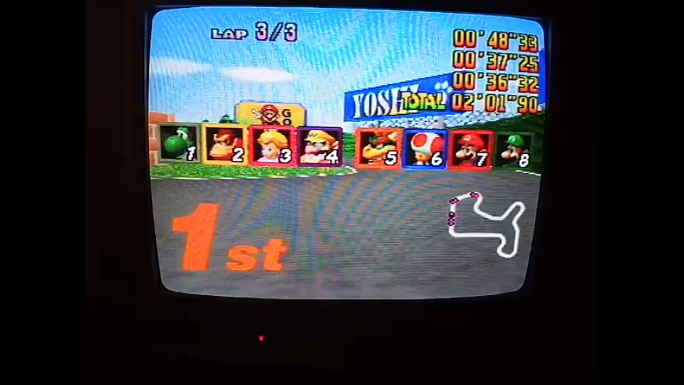 omargeddon: Mario Kart 64: Mario Raceway [Lap Time] [50cc] (N64) 0:00:36.32 points on 2020-04-12 15:48:29