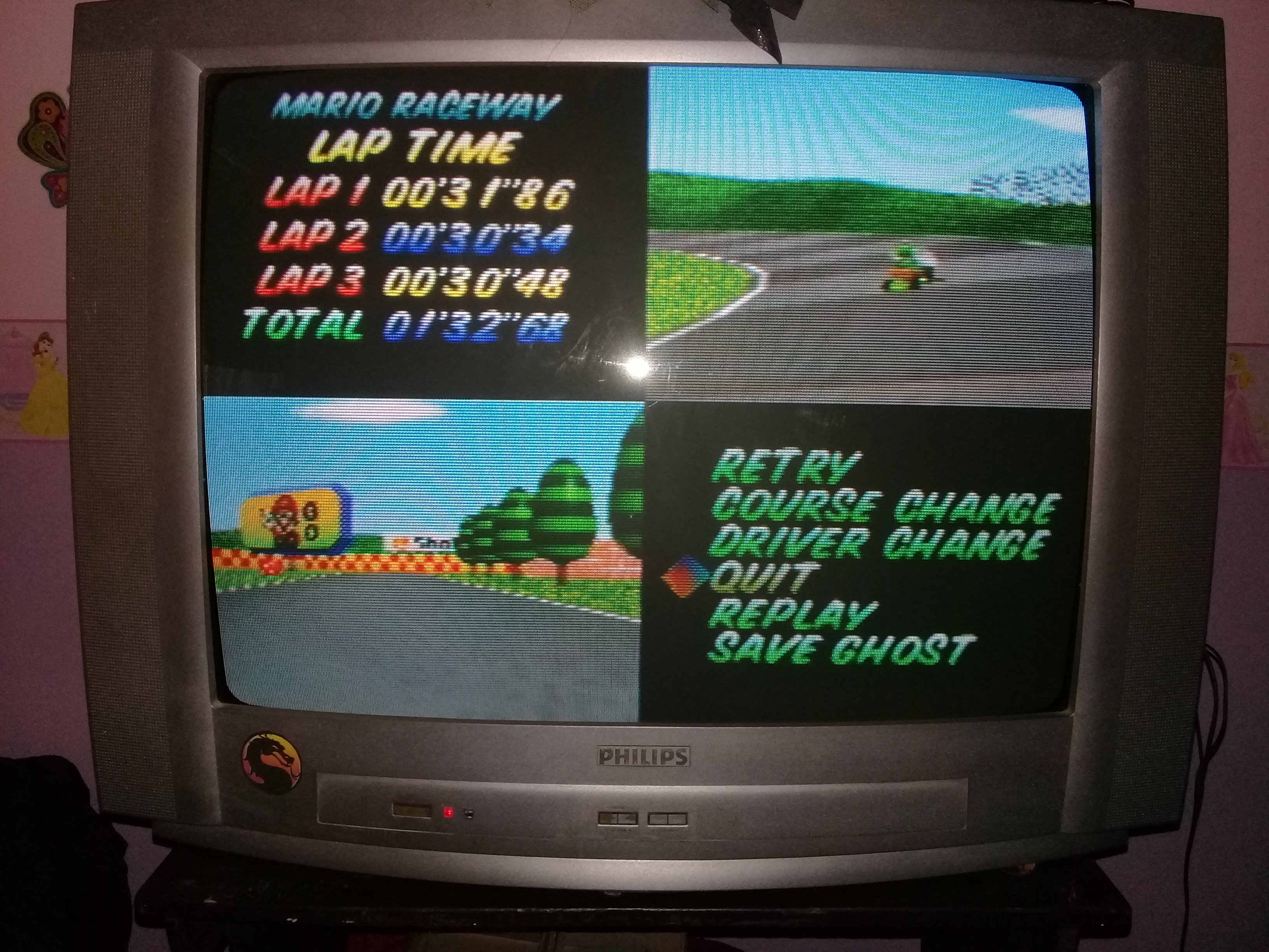 omargeddon: Mario Kart 64: Mario Raceway [Time Trial] (N64) 0:01:32.68 points on 2020-04-22 14:24:02
