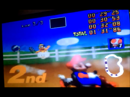 S.BAZ: Mario Kart 64: Moo Moo Farm [100cc] (N64) 0:01:31.86 points on 2016-04-18 22:15:16