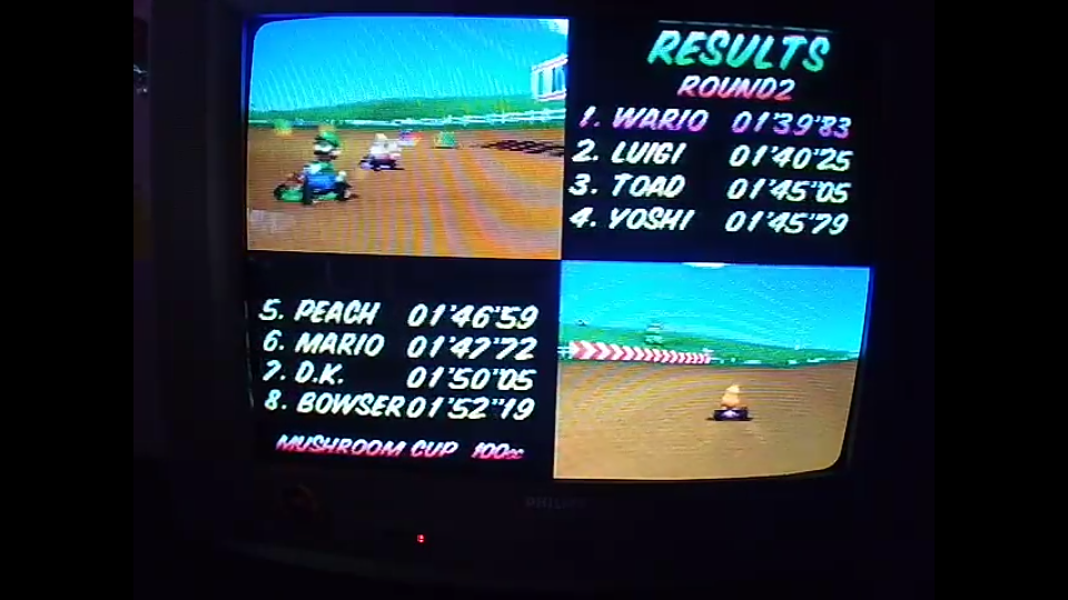 omargeddon: Mario Kart 64: Moo Moo Farm [100cc] (N64) 0:01:39.83 points on 2020-04-12 17:27:58