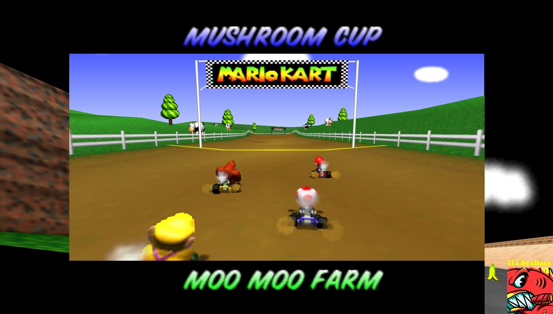 ILLSeaBass: Mario Kart 64: Moo Moo Farm [50cc] (N64 Emulated) 0:01:46.02 points on 2017-05-29 12:41:01