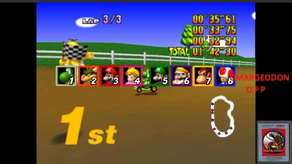 Mario Kart 64: Moo Moo Farm [50cc] time of 0:01:42.3