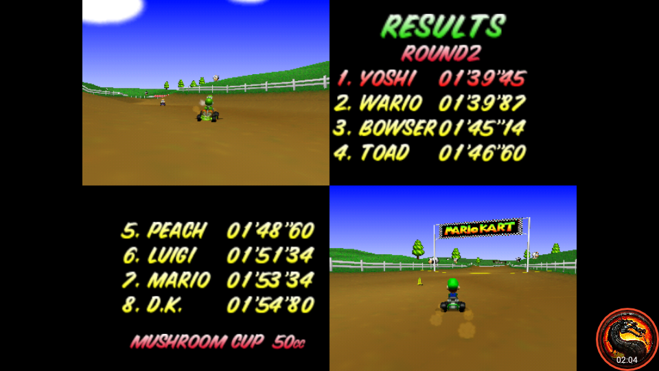 omargeddon: Mario Kart 64: Moo Moo Farm [50cc] (N64 Emulated) 0:01:39.45 points on 2020-01-26 02:23:20