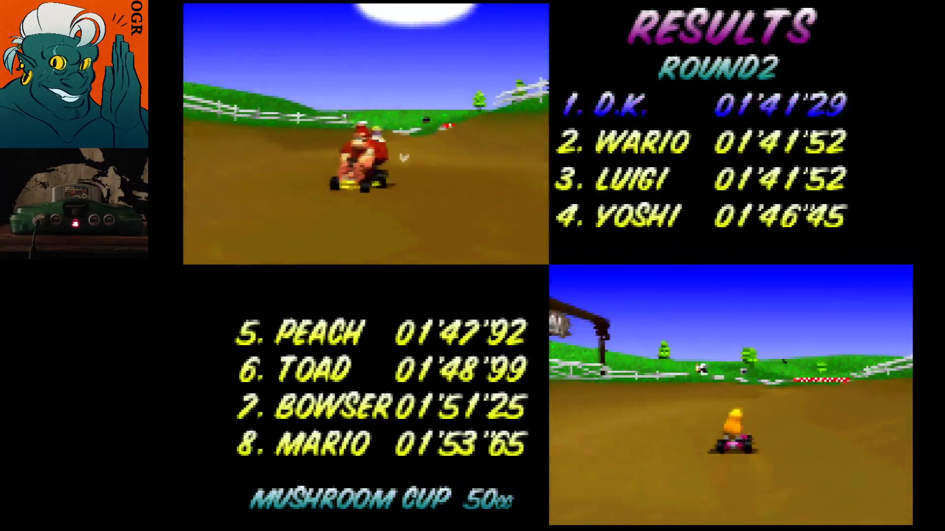 AwesomeOgre: Mario Kart 64: Moo Moo Farm [50cc] (N64) 0:01:41.29 points on 2020-03-12 20:12:18
