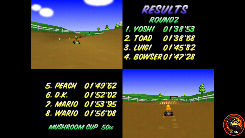 omargeddon: Mario Kart 64: Moo Moo Farm [50cc] (N64 Emulated) 0:01:38.53 points on 2020-06-27 23:40:18