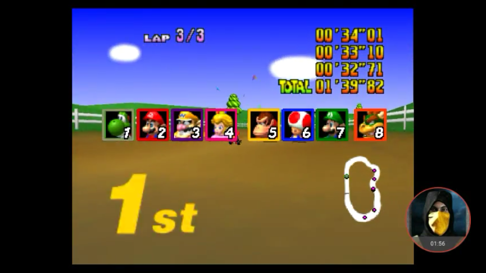omargeddon: Mario Kart 64: Moo Moo Farm [Lap Time] [50cc] (N64 Emulated) 0:00:32.71 points on 2018-02-16 21:57:50