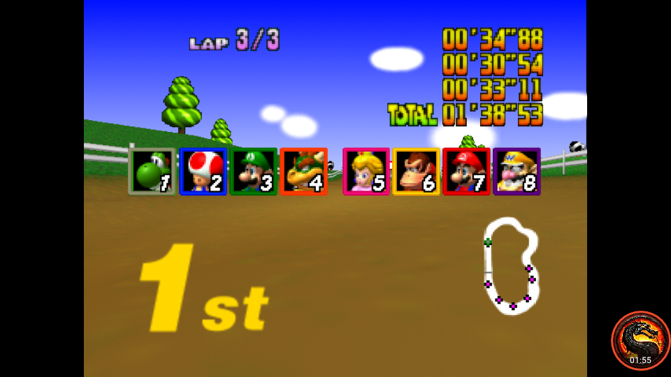 omargeddon: Mario Kart 64: Moo Moo Farm [Lap Time] [50cc] (N64 Emulated) 0:00:30.54 points on 2020-06-28 00:56:03