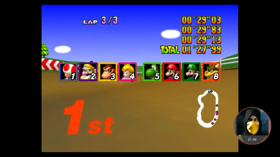 omargeddon: Mario Kart 64: Moo Moo Farm [Lap Time] [Extra] (N64 Emulated) 0:00:29.03 points on 2018-02-25 18:45:45