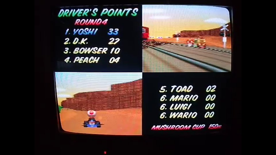 omargeddon: Mario Kart 64: Mushroom Cup [Points] [150cc] (N64) 33 points on 2020-04-26 16:51:32