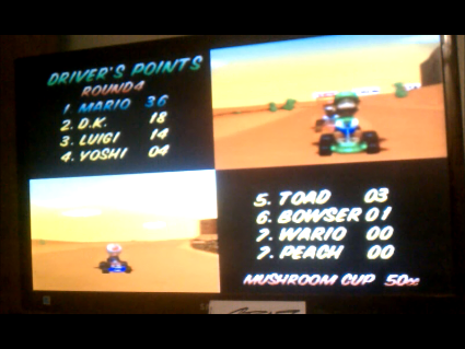 S.BAZ: Mario Kart 64: Mushroom Cup [Points] [50cc] (N64) 36 points on 2016-05-29 16:02:45