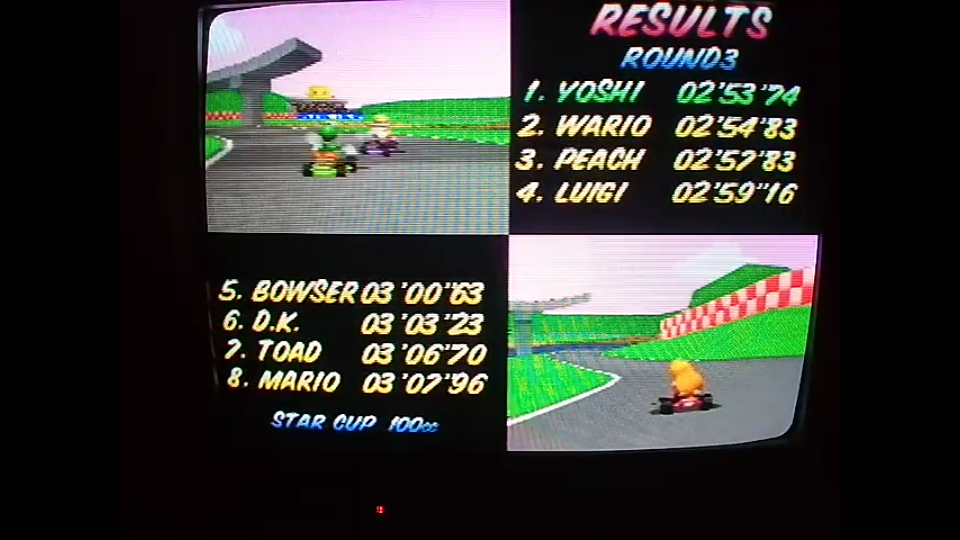 omargeddon: Mario Kart 64: Royal Raceway [100cc] (N64) 0:02:53.74 points on 2020-04-26 15:49:28