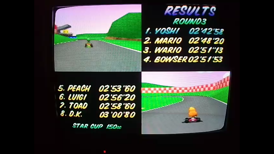 omargeddon: Mario Kart 64: Royal Raceway [150cc] (N64) 0:02:42.58 points on 2020-04-26 16:39:27