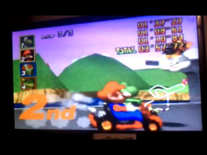 S.BAZ: Mario Kart 64: Royal Raceway [Lap Time] [50cc] (N64) 0:01:09.61 points on 2016-05-26 22:32:34
