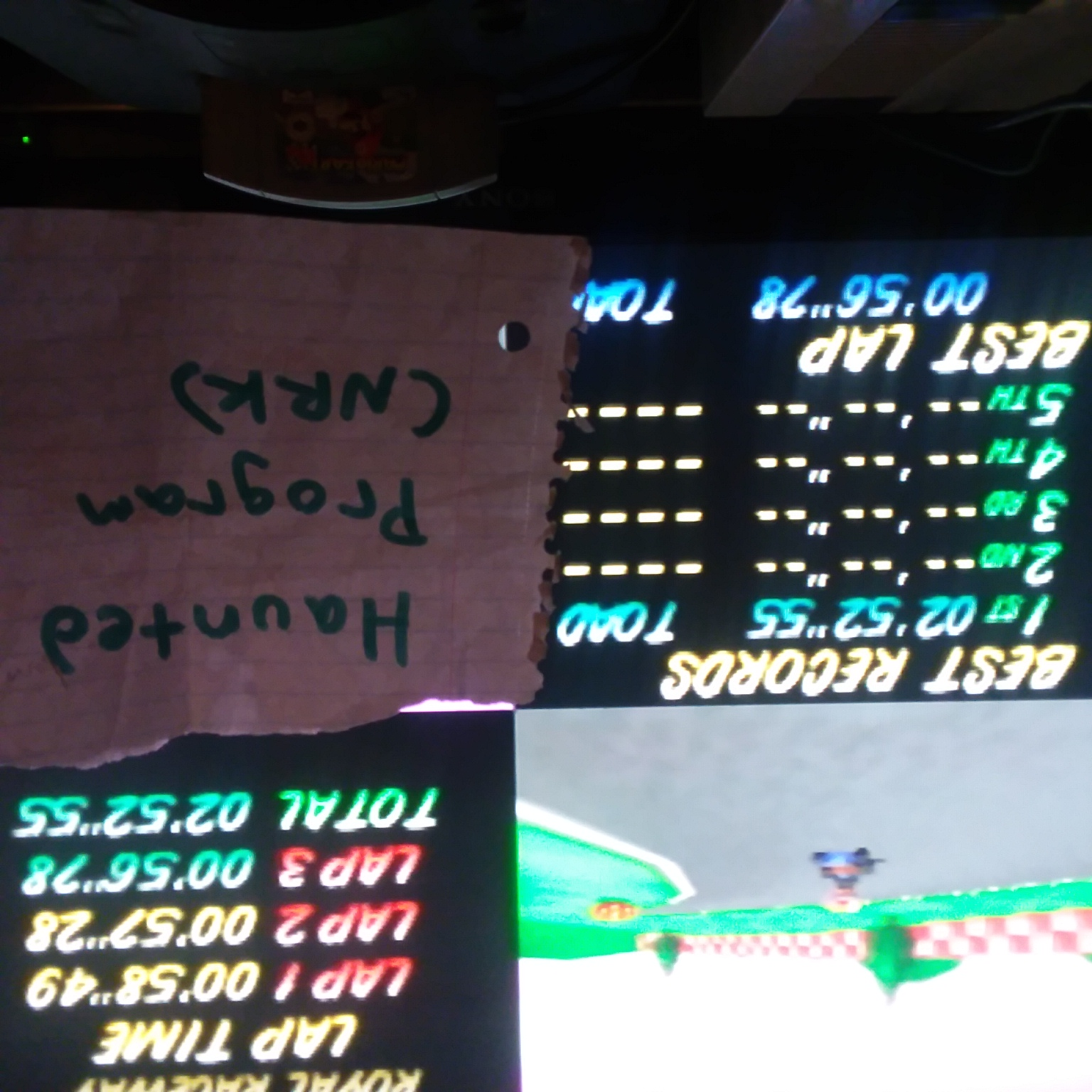 Hauntedprogram: Mario Kart 64: Royal Raceway [Time Trial] [Lap Time] (N64 Emulated) 0:00:56.78 points on 2020-11-24 06:50:02