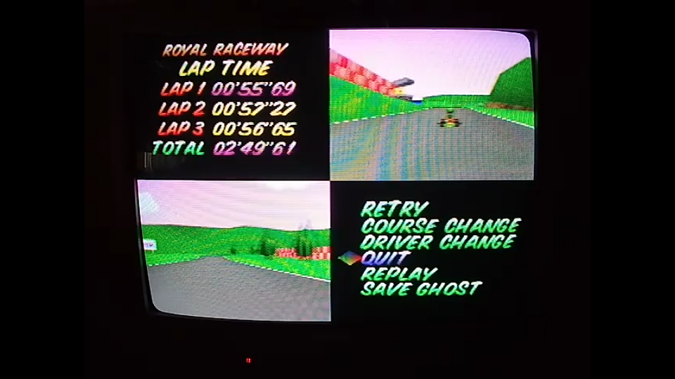 omargeddon: Mario Kart 64: Royal Raceway [Time Trial] [Lap Time] (N64) 0:00:55.69 points on 2020-04-22 15:01:54
