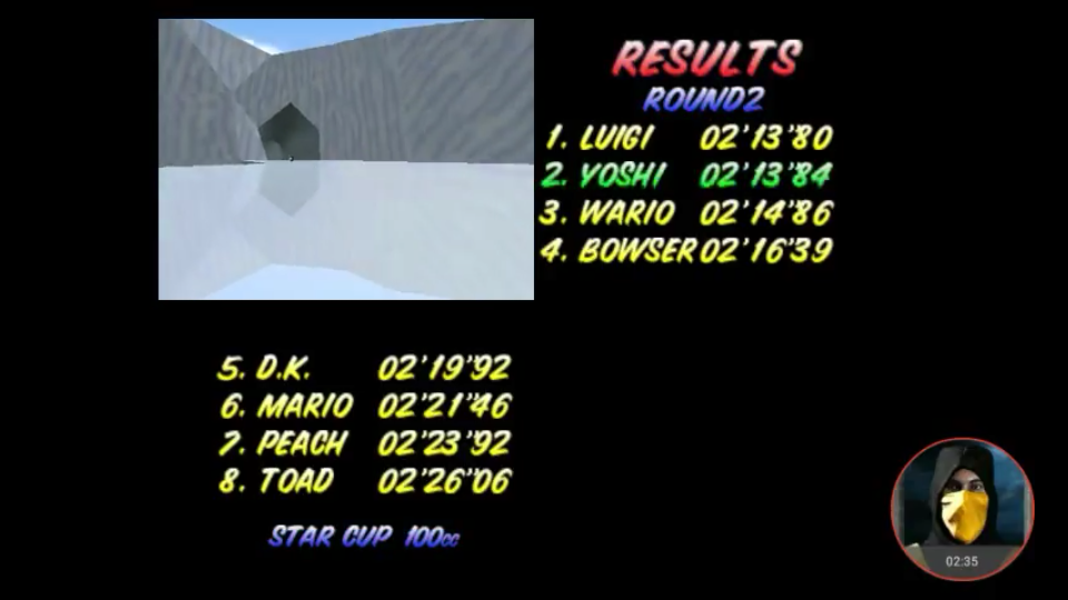 omargeddon: Mario Kart 64: Sherbet Land [100cc] (N64 Emulated) 0:02:13.84 points on 2018-02-03 13:44:05