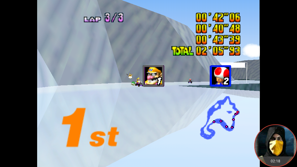 omargeddon: Mario Kart 64: Sherbet Land [Lap Time] [150cc] (N64 Emulated) 0:00:40.48 points on 2018-02-10 14:44:22
