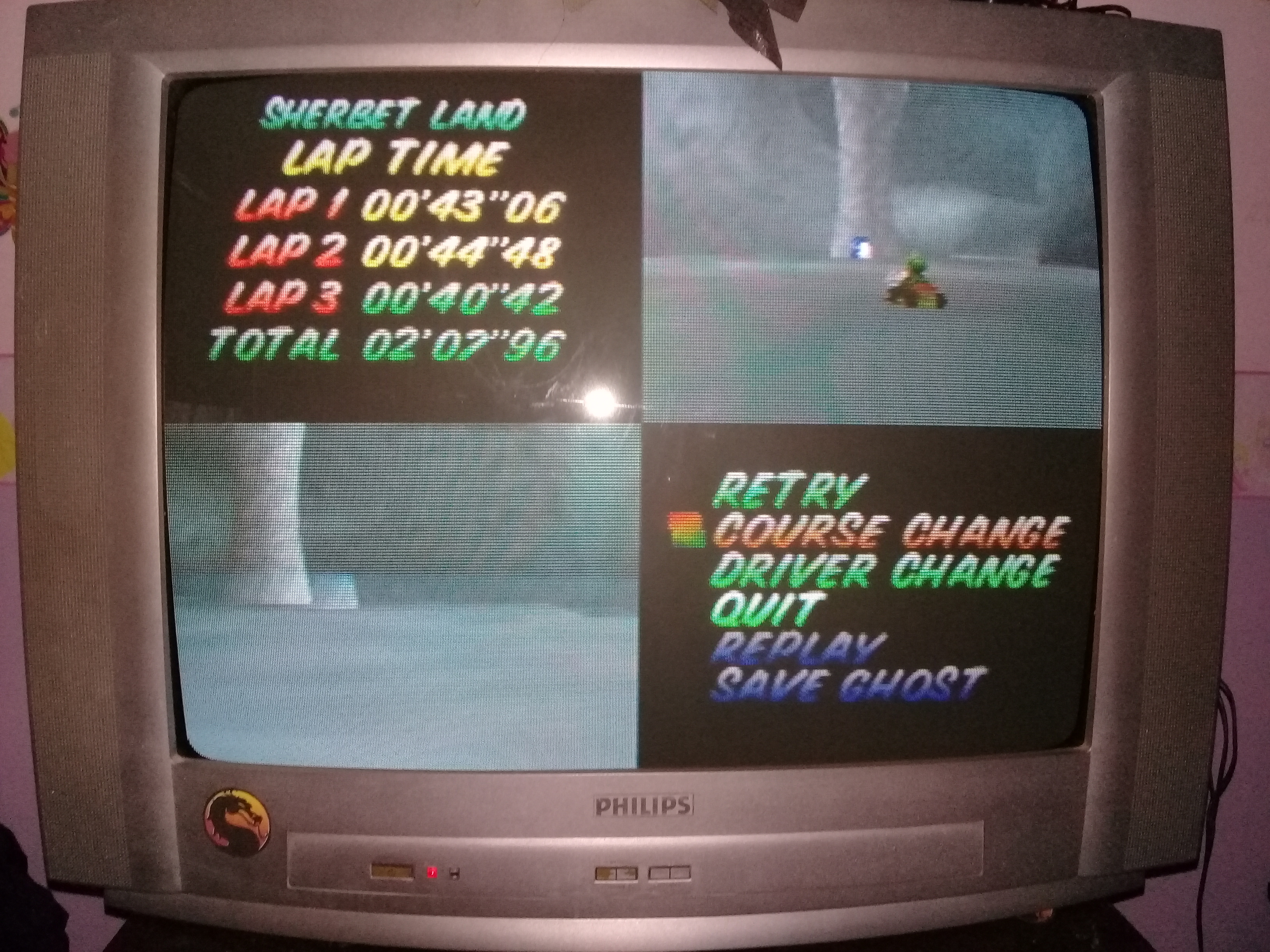 omargeddon: Mario Kart 64: Sherbet Land [Time Trial] [Lap Time] (N64) 0:00:40.42 points on 2020-04-22 15:00:40