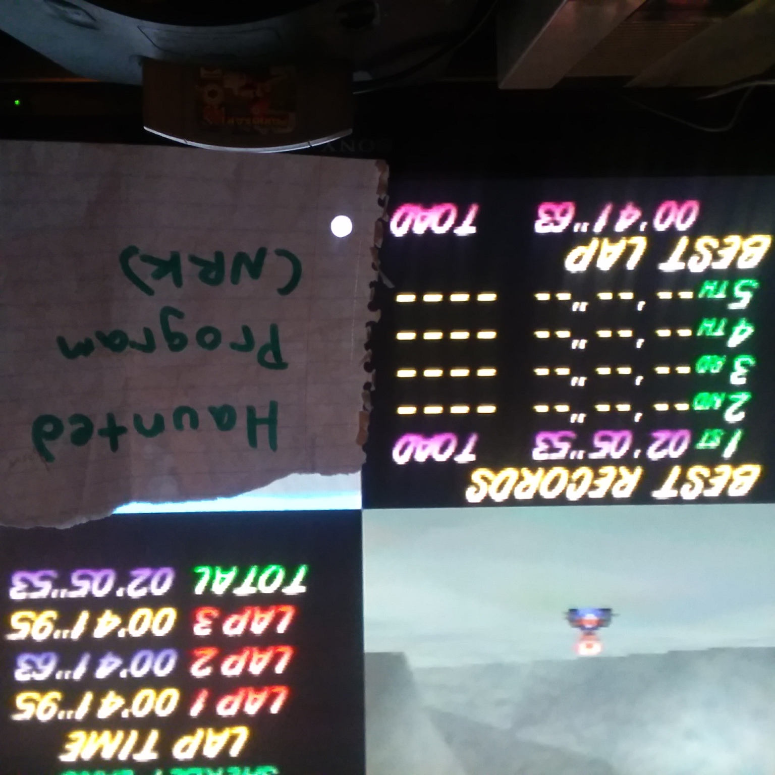 Mario Kart 64: Sherbet Land [Time Trial] time of 0:02:05.53