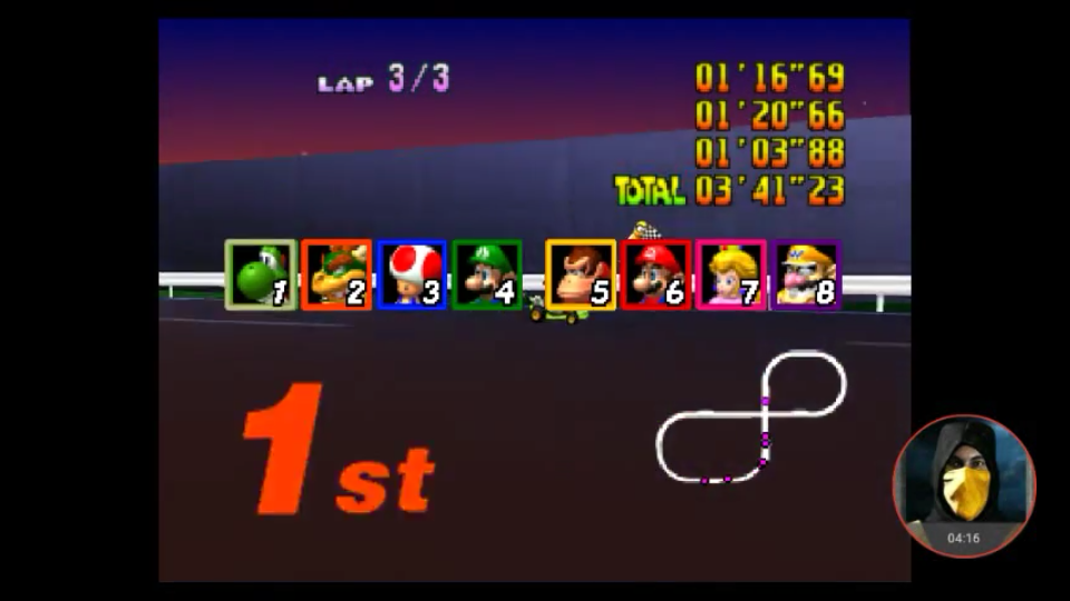Mario Kart 64 Toad S Turnpike Lap Time Extra N64 Emulated High Score By Omargeddon