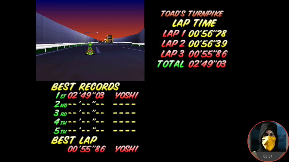 Mario Kart 64 Toad S Turnpike Time Trial N64 Emulated High Score By Omargeddon