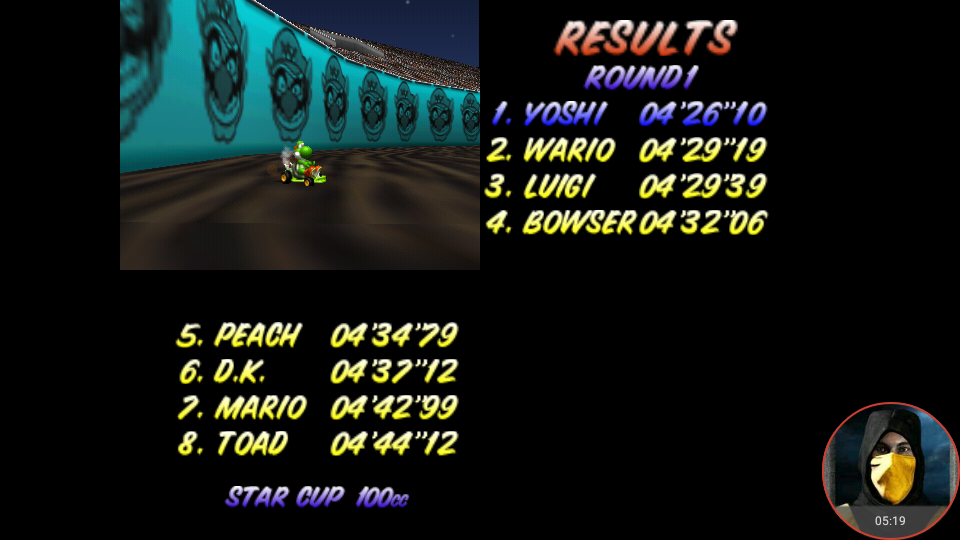 omargeddon: Mario Kart 64: Wario Stadium [100cc] (N64 Emulated) 0:04:26.1 points on 2018-02-03 13:41:23