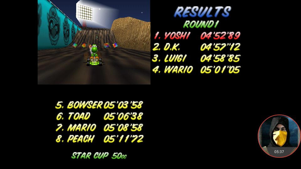 omargeddon: Mario Kart 64: Wario Stadium [50cc] (N64 Emulated) 0:04:52.89 points on 2018-01-23 19:00:14
