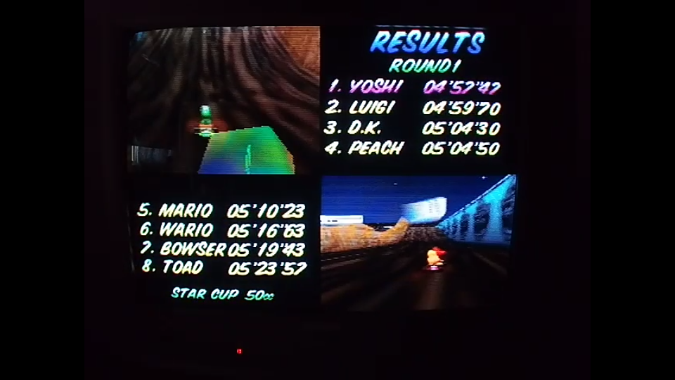 omargeddon: Mario Kart 64: Wario Stadium [50cc] (N64) 0:04:57.47 points on 2020-04-22 15:33:41