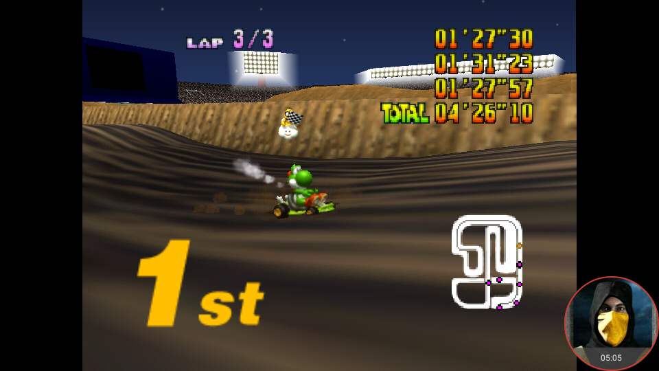 omargeddon: Mario Kart 64: Wario Stadium [Lap Time] [100cc] (N64 Emulated) 0:01:27.3 points on 2018-02-03 13:43:00