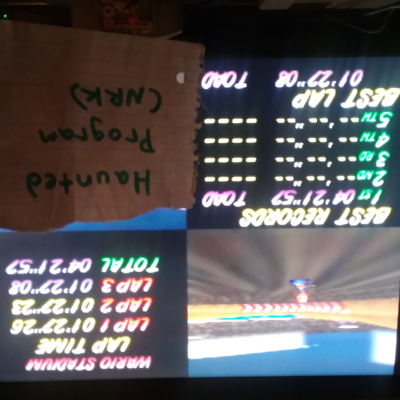 Mario Kart 64: Wario Stadium [Time Trial] time of 0:04:21.57