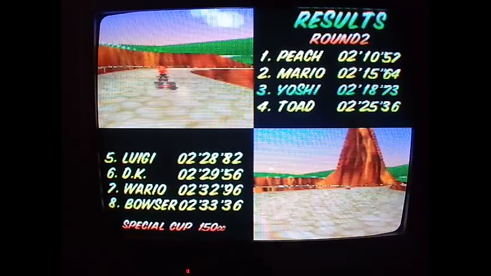 omargeddon: Mario Kart 64: Yoshi Valley [150cc] (N64) 0:02:18.73 points on 2020-04-26 16:45:46