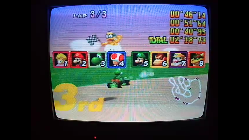 omargeddon: Mario Kart 64: Yoshi Valley [Lap Time] [150cc] (N64) 0:00:40.95 points on 2020-04-26 16:46:41