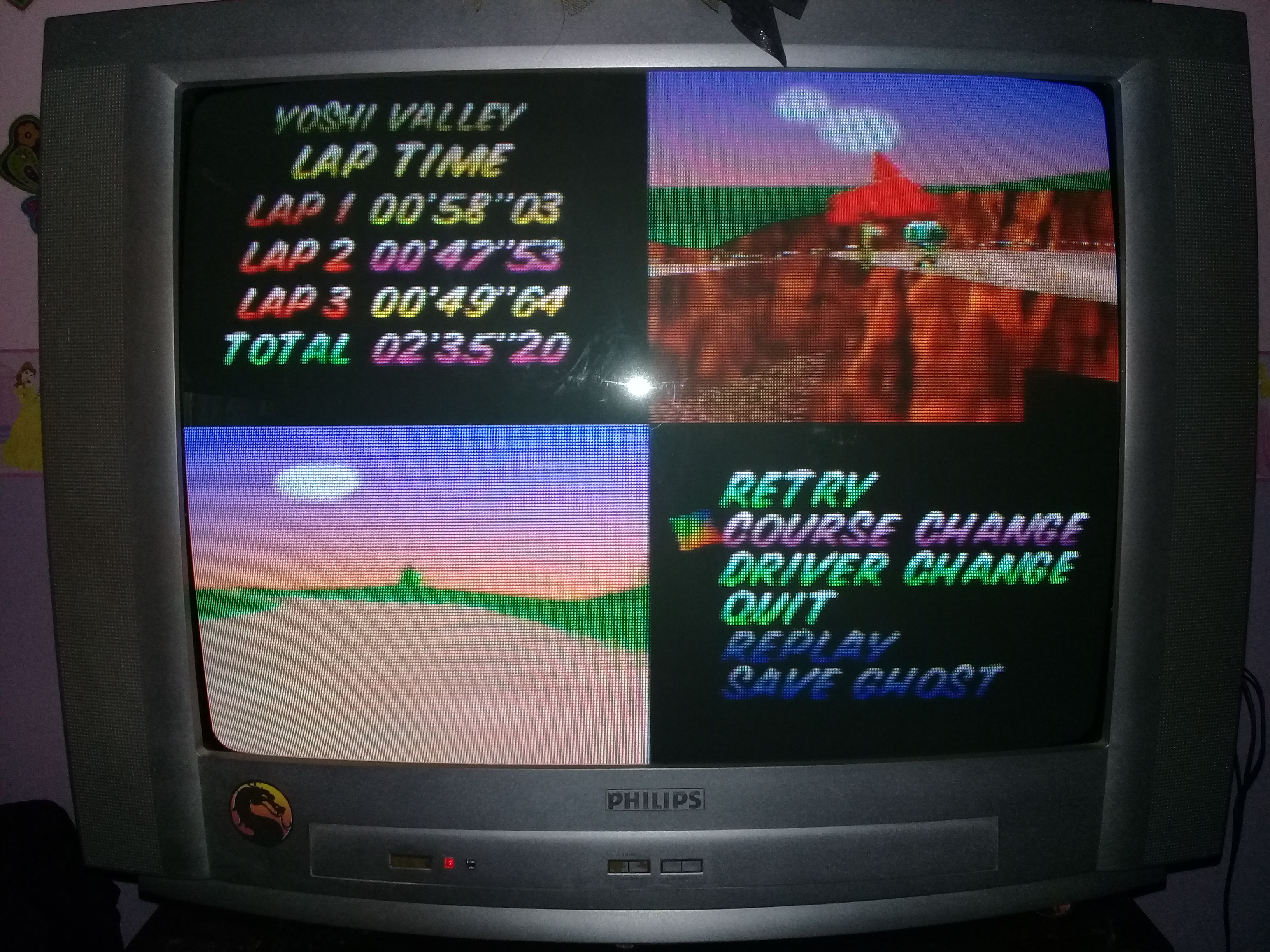 omargeddon: Mario Kart 64: Yoshi Valley [Lap Time] [Time Trial] (N64) 0:00:47.53 points on 2020-04-22 15:06:35