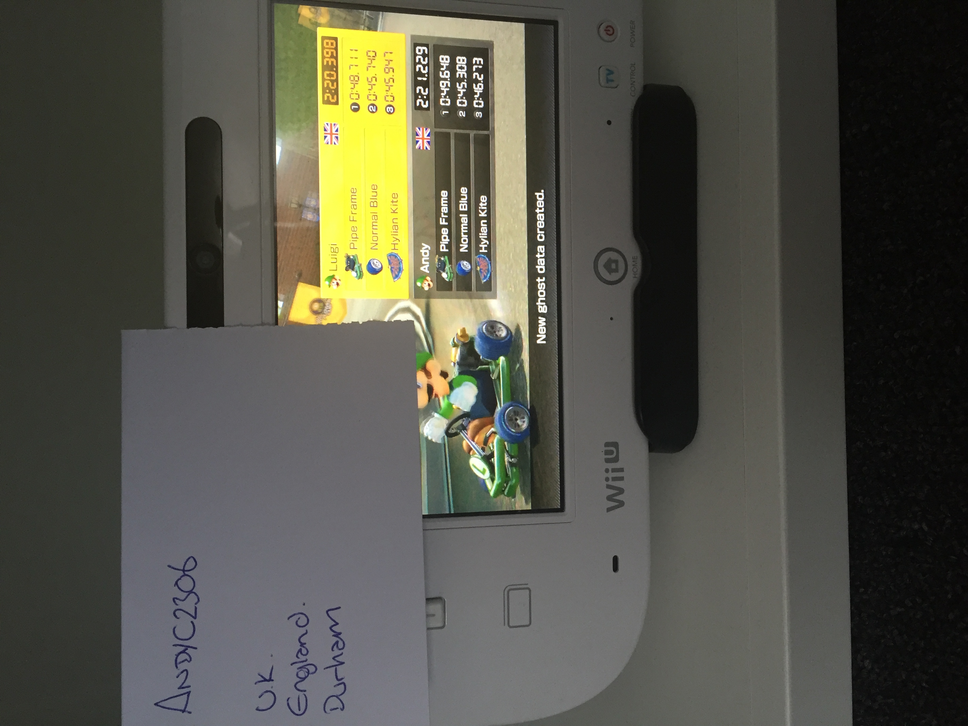 Mario Kart 8: Time Trials: Toad Harbour [Best Time] time of 0:02:20.398