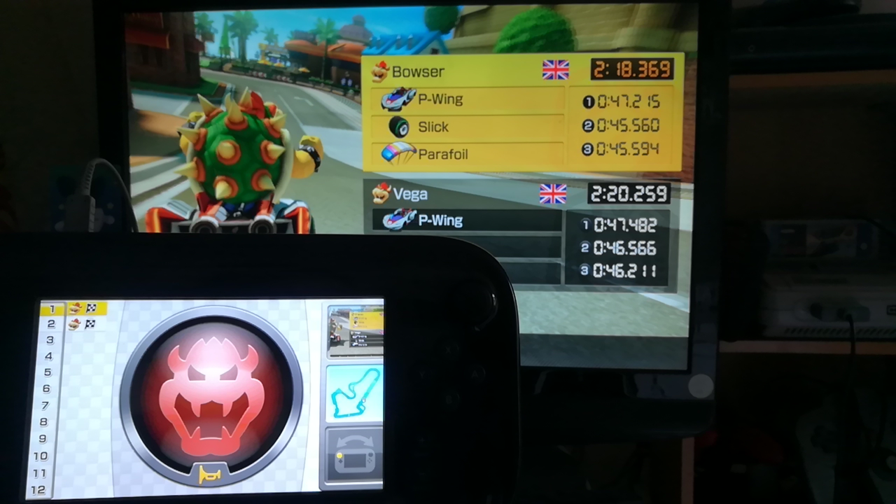 Mimitchi: Mario Kart 8: Time Trials: Toad Harbour [Best Time] (Wii U) 0:02:18.369 points on 2020-04-02 08:07:33
