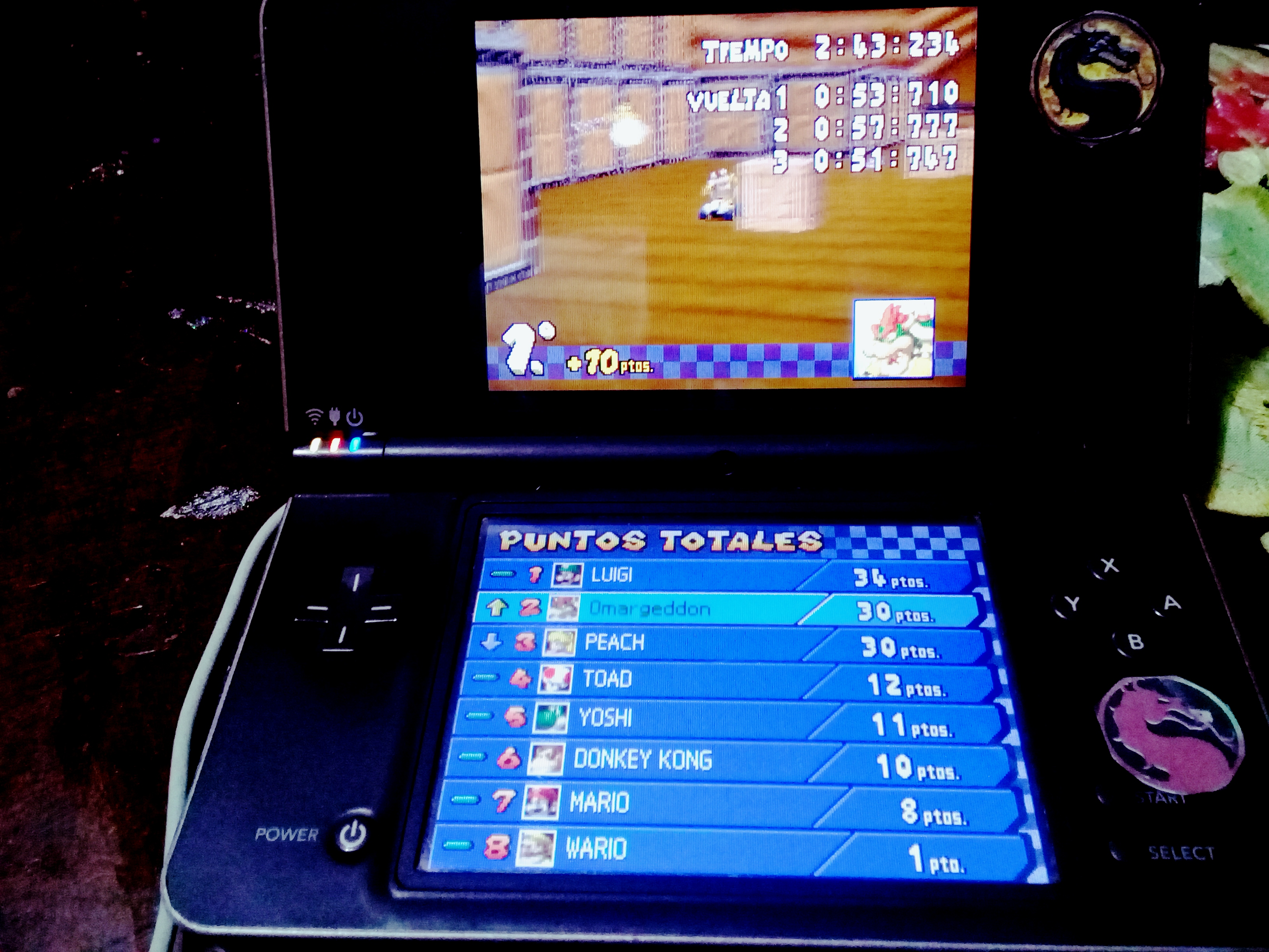 Mario Kart DS: Airship Fortress [100cc] [Lap Time] time of 0:00:51.747