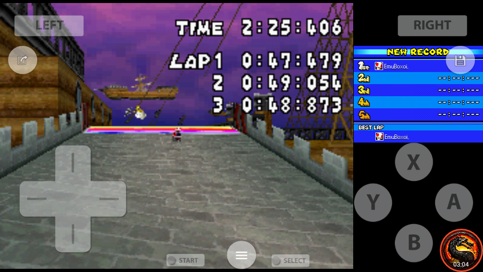 omargeddon: Mario Kart DS: Airship Fortress [Time Trial] [Lap Time] (Nintendo DS Emulated) 0:00:47.479 points on 2020-08-02 10:20:56
