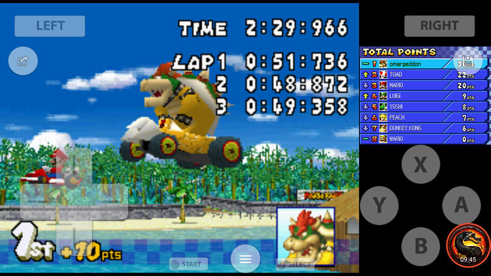 omargeddon: Mario Kart DS: Cheep Cheep Beach [100cc] [Lap Time] (Nintendo DS Emulated) 0:00:48.872 points on 2020-09-29 22:00:24