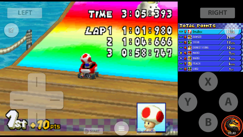 omargeddon: Mario Kart DS: Cheep Cheep Beach [50cc] [Lap Time] (Nintendo DS Emulated) 0:00:58.747 points on 2020-07-30 19:07:18