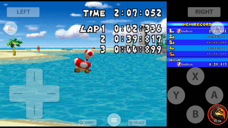 omargeddon: Mario Kart DS: Cheep Cheep Beach [Time Trial] [Lap Time] (Nintendo DS Emulated) 0:00:39.817 points on 2020-08-01 22:47:43