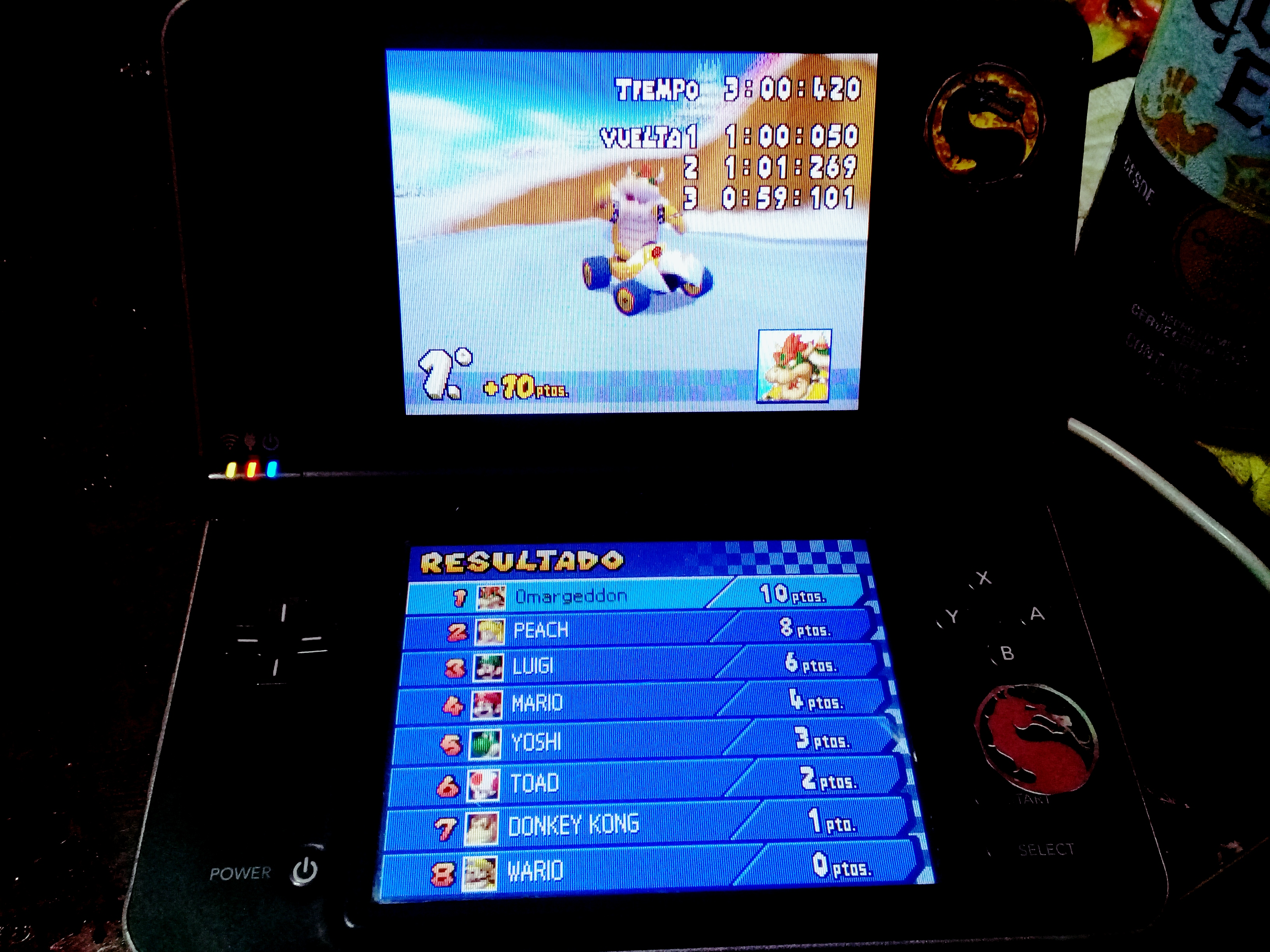 omargeddon: Mario Kart DS: DK Pass [100cc] [Lap Time] (Nintendo DS) 0:00:59.101 points on 2020-09-14 15:45:08