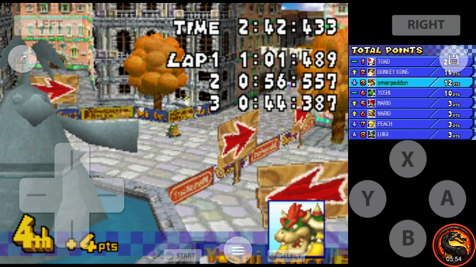 omargeddon: Mario Kart DS: Delfino Square [100cc] [Lap Time] (Nintendo DS Emulated) 0:00:44.387 points on 2020-09-29 22:07:16