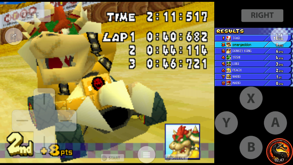 omargeddon: Mario Kart DS: Desert Hills [100cc] [Lap Time] (Nintendo DS Emulated) 0:00:40.682 points on 2020-09-29 22:05:09
