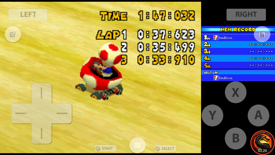 omargeddon: Mario Kart DS: Desert Hills [Time Trial] [Lap Time] (Nintendo DS Emulated) 0:00:33.91 points on 2020-08-01 23:06:16