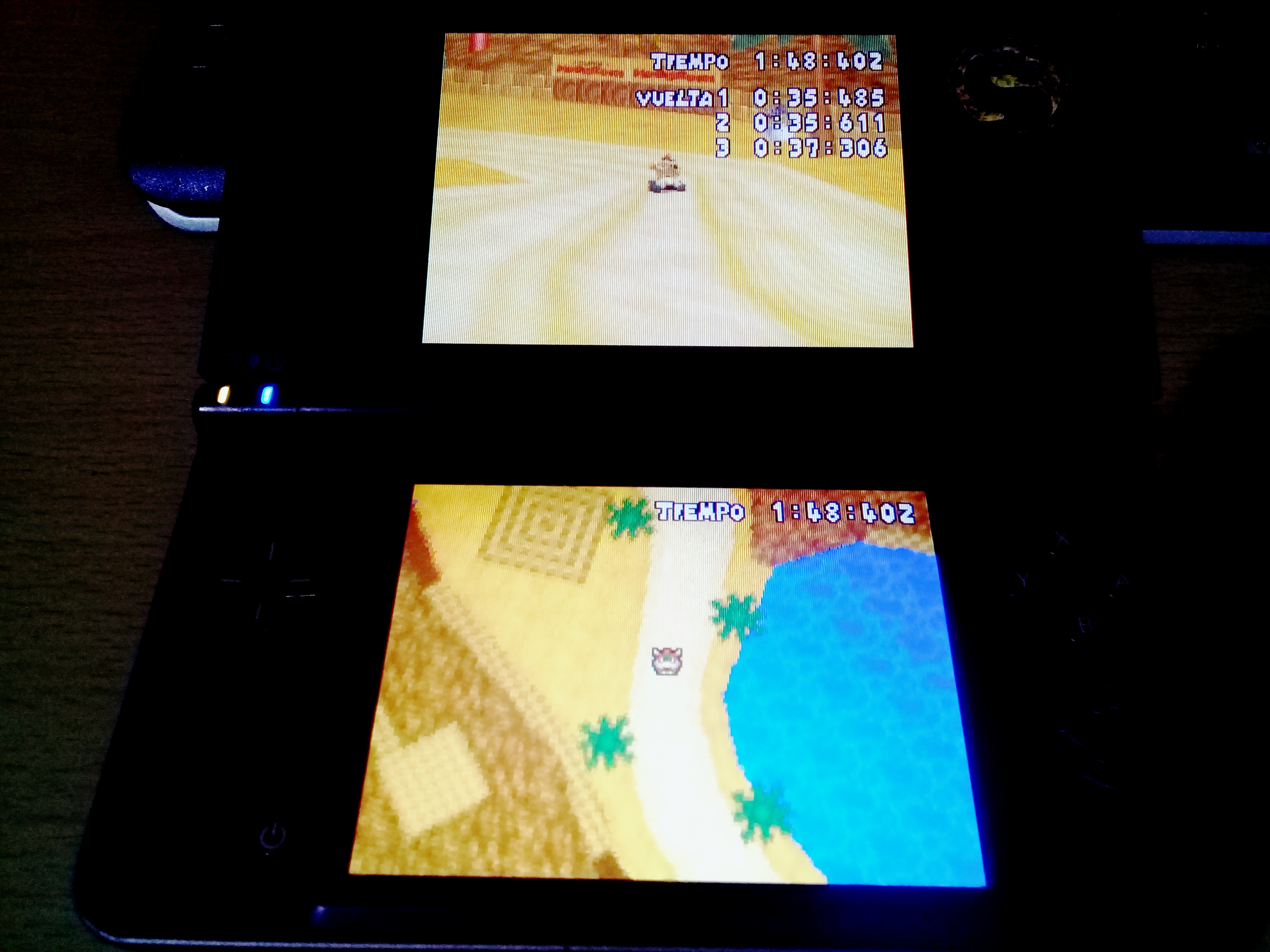 omargeddon: Mario Kart DS: Desert Hills [Time Trial] (Nintendo DS) 0:01:48.402 points on 2020-08-11 17:52:29