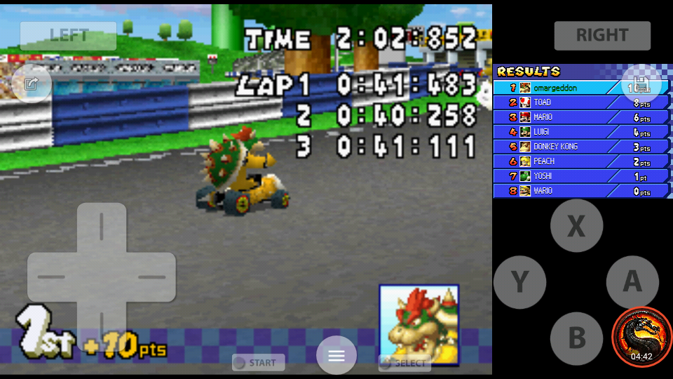 omargeddon: Mario Kart DS: Figure-8 Circuit [100cc] [Lap Time] (Nintendo DS Emulated) 0:00:40.258 points on 2020-09-29 21:56:35