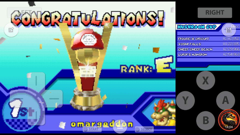 omargeddon: Mario Kart DS: Figure-8 Circuit [100cc] (Nintendo DS Emulated) 0:02:02.852 points on 2020-09-29 21:55:16