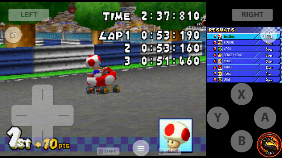 omargeddon: Mario Kart DS: Figure-8 Circuit [50cc] [Lap Time] (Nintendo DS Emulated) 0:00:51.46 points on 2020-07-30 19:00:21
