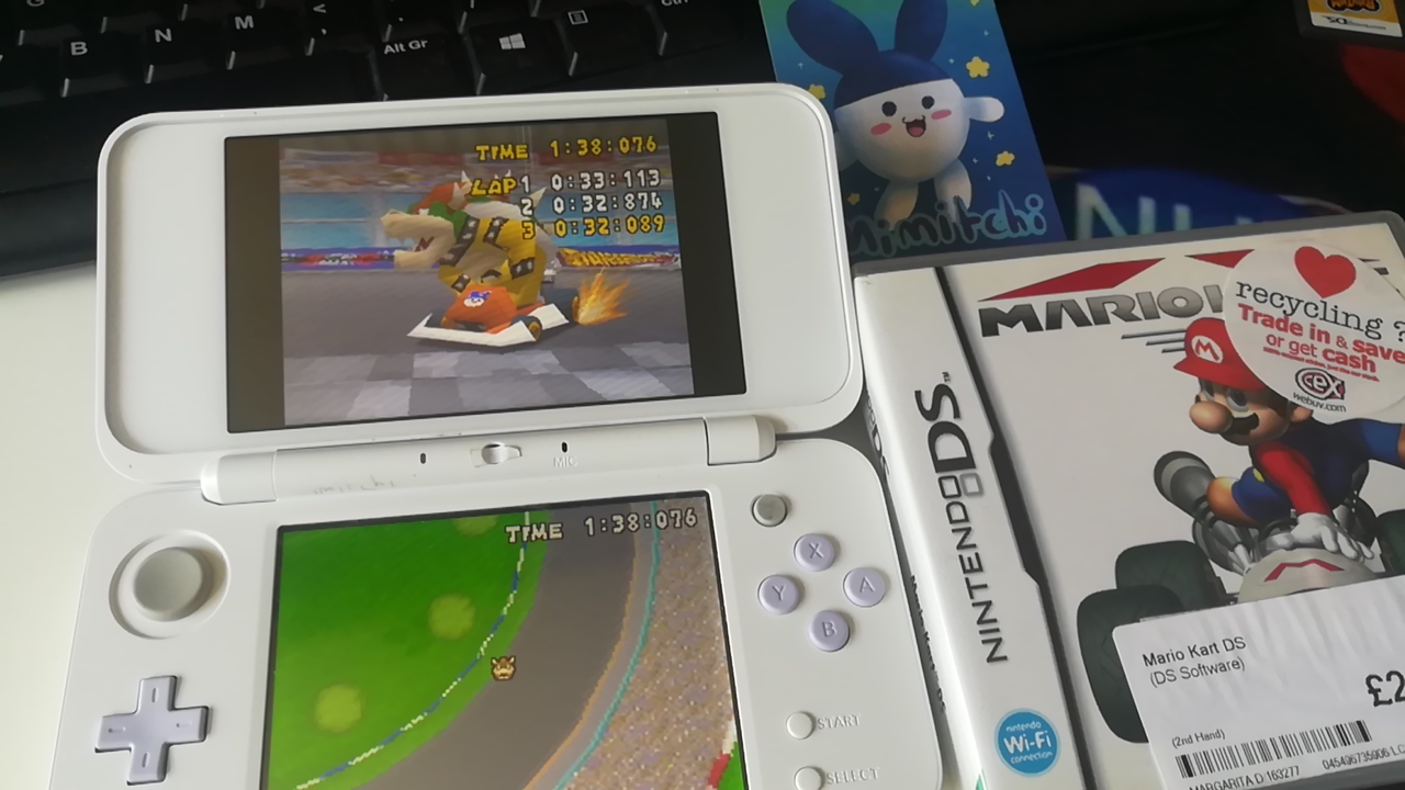 Mimitchi: Mario Kart DS: Figure-8 Circuit [Time Trial] [Lap Time] (Nintendo DS) 0:00:32.089 points on 2020-06-27 04:09:51
