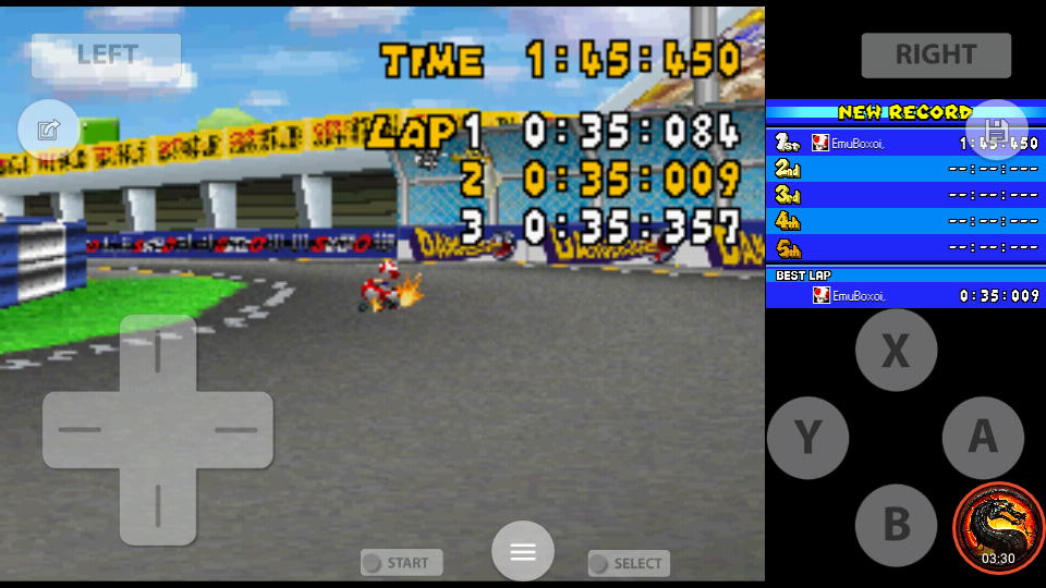 omargeddon: Mario Kart DS: Figure-8 Circuit [Time Trial] [Lap Time] (Nintendo DS Emulated) 0:00:35.009 points on 2020-08-01 22:40:45